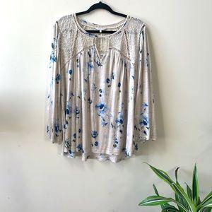 Lucky brand women's size xl blouse !